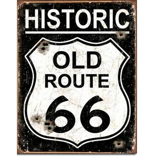 Blechschild Old Route 66