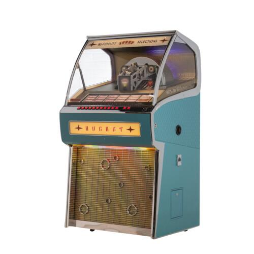 Rocket Vinyl im 50iger Jahre Design Türkis