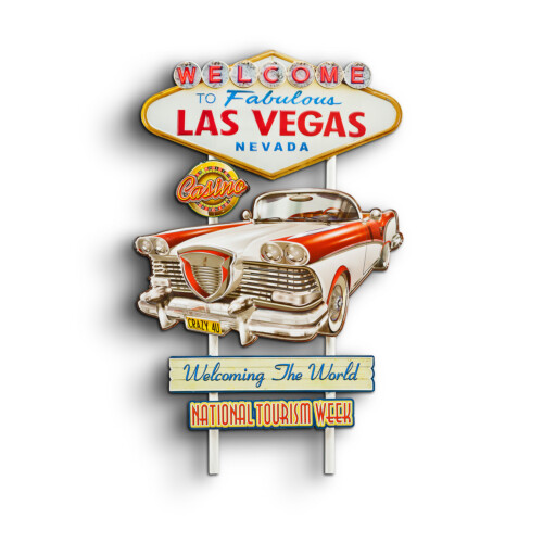Blechschild Welcome Las Vegas Werbung