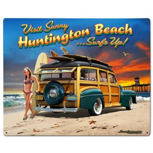 Blechschild Huntington Beach L