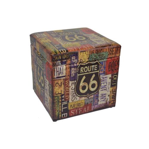Sitzhocker mit Route 66 Motiv