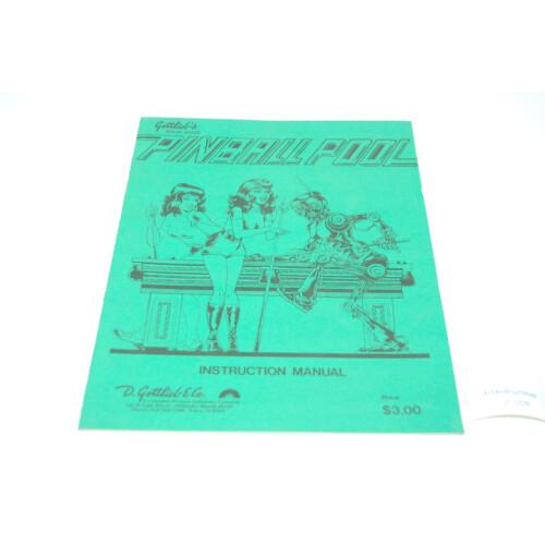 Gottlieb Pinball Pool Flipper Manual