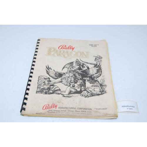 Bally Paragon Flipper Manual