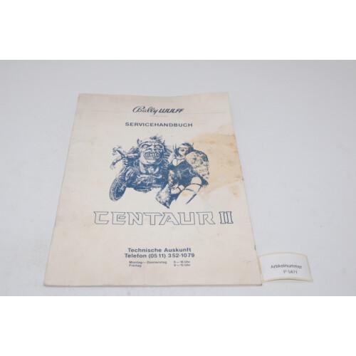 Bally Centaur 2 Flipper Manual