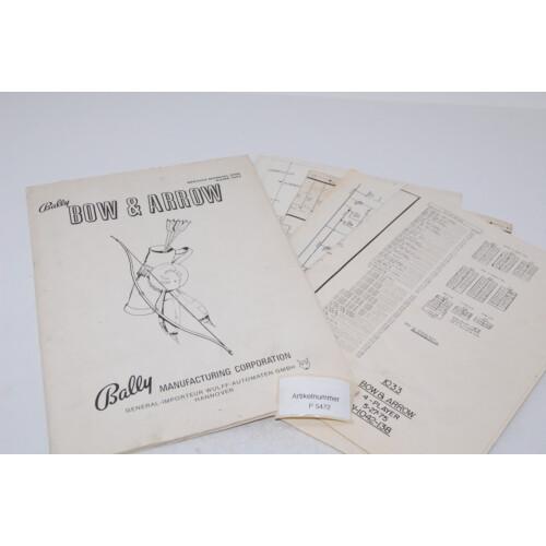 Bally Bow and Arrow Flipper Manual