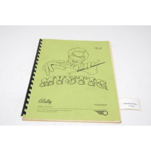 Bally Mystic Flipper Manual