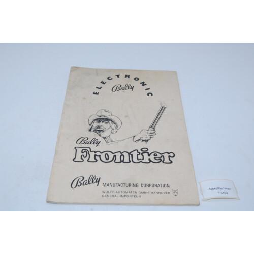 Bally Frontier Flipper Manual