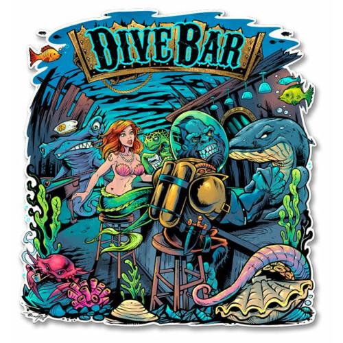 Blechschild Dive Bar