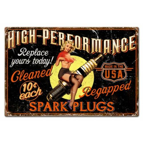 Blechschild Spark Plug High Performance M