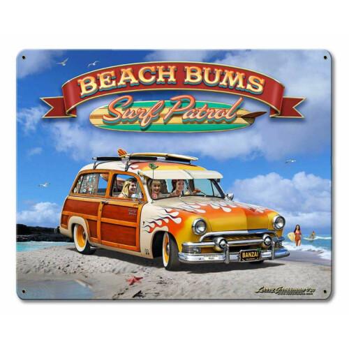 Blechschild 1951 Surf Woody