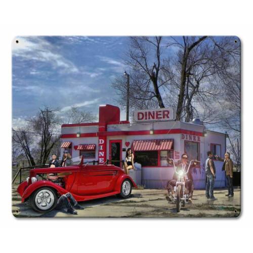Blechschild Red Heart Diner S