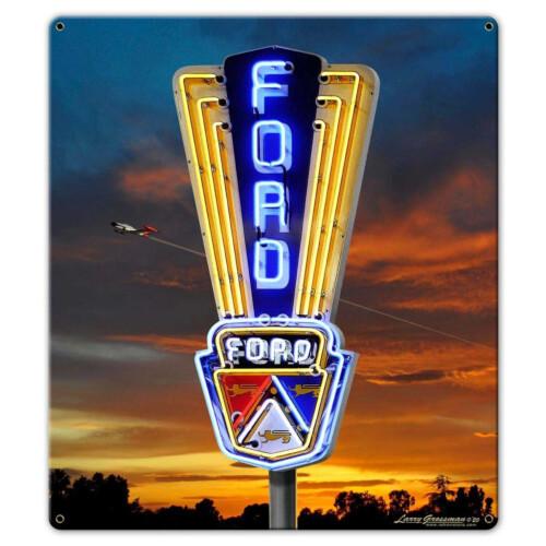 Blechschild Ford Neon Sign S