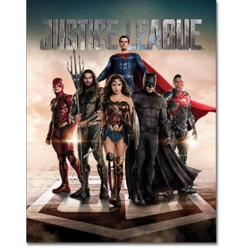 Blechschild Justice League Movie
