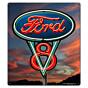Blechschild Ford V8 Sign M