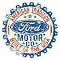 Blechschild Ford Round