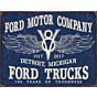 Blechschild Ford Trucks 100 years